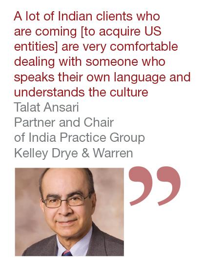 Talat Ansari, Partner and Chair of India Practice Group, Kelley Drye & Warren