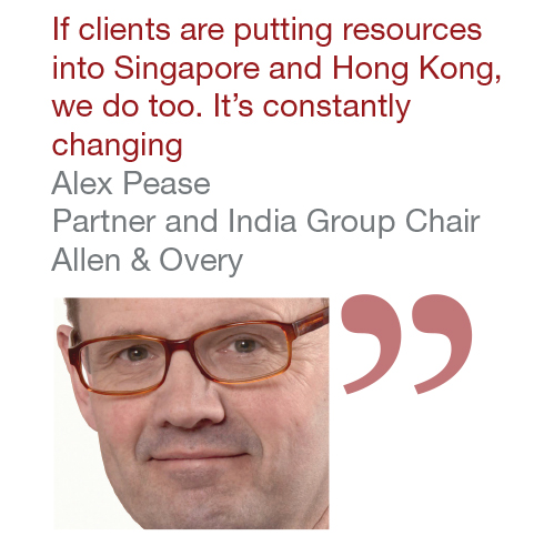 Alex Pease Partner and India Group Chair Allen & Overy