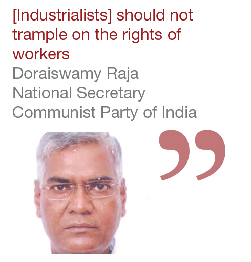 Doraiswamy Raja National Secretary Communist Party of India