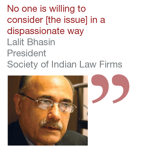 Lalit Bhasin President Society of Indian Law Firm