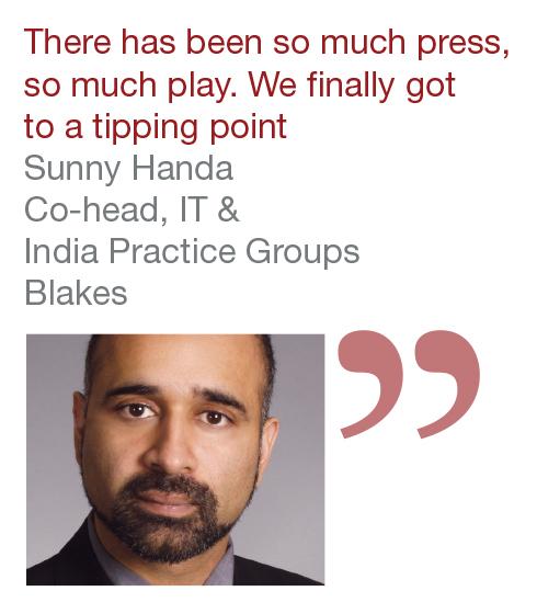 Sunny Handa Co-head, IT & India Practice Groups Blakes