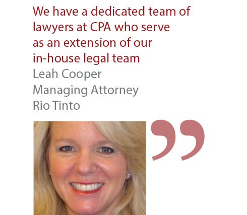 Leah Cooper Managing Attorney Rio Tinto