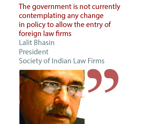 Lalit Bhasin President Society of Indian Law Firms