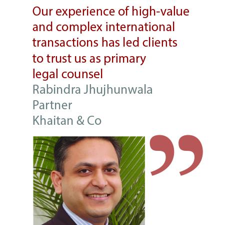 Rabindra Jhujhunwala Partner Khaitan & Co
