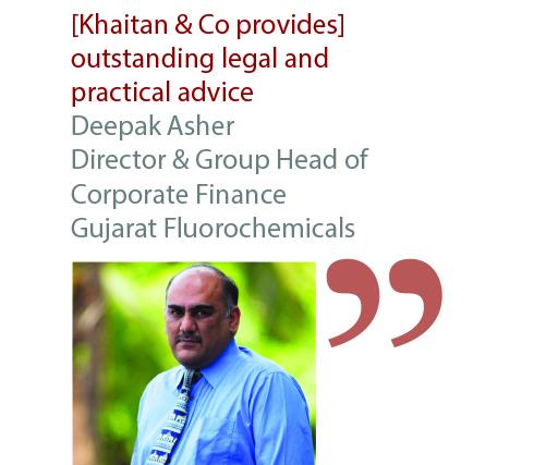Deepak Asher Director & Group Head of Corporate Finance Gujarat Fluorochemicals