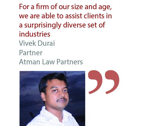 Vivek Durai Partner Atman Law Partners