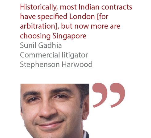 Sunil Gadhia Commercial litigator Stephenson Harwood