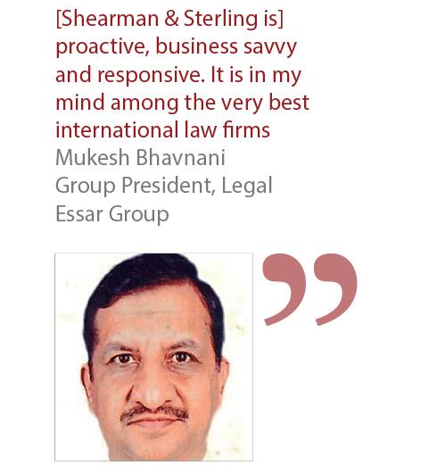 Mukesh Bhavnani Group President, Legal Essar Group