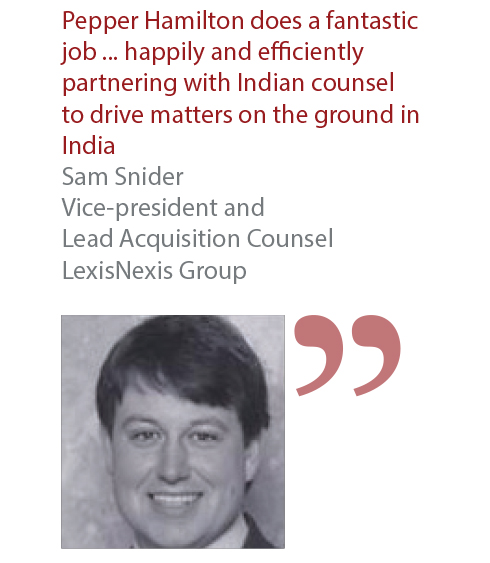 Sam Snider Vice-president and Lead Acquisition Counsel LexisNexis Group