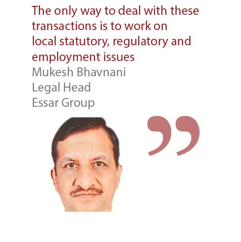 Mukesh Bhavnani Legal Head Essar Group