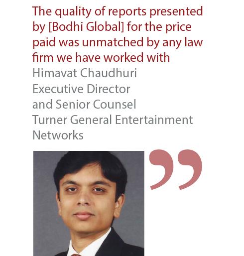 Himavat Chaudhuri Executive Director and Senior Counsel Turner General Entertainmen Networks