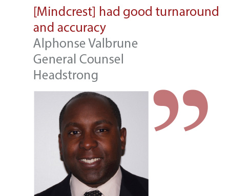 Alphonse Valbrune General Counsel Headstrong