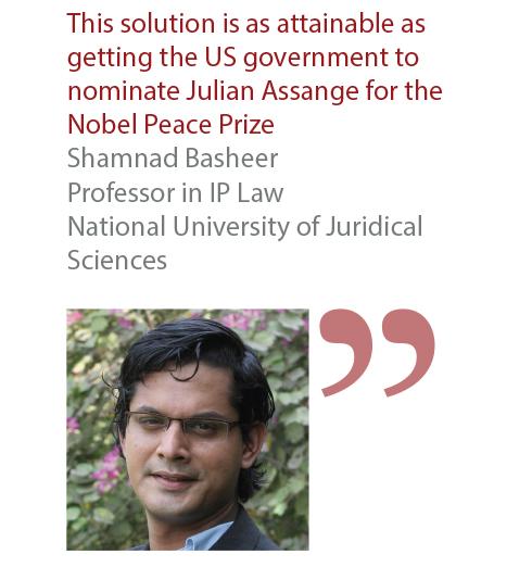 Shamnad Basheer Professor in IP Law National Univerisy of Juridical Sciences