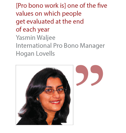 Yasmin Waljee International Pro Bono Manager Hogan Lovells