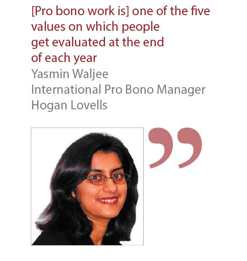 Yasmin Waljee International Pro Bono Manager Hogan Lovells