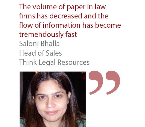 Saloni Bhalla Head of Sales Think Legal Resources