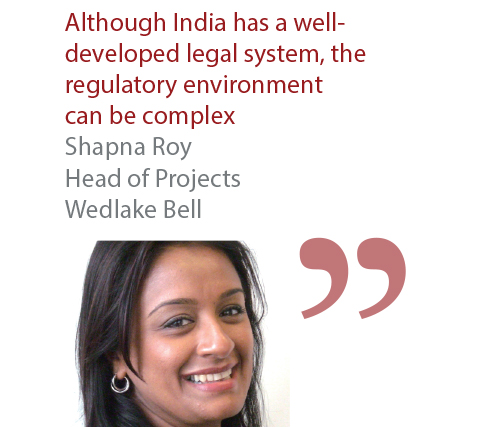 Shapna Roy Head of Projects Wedlake Bell