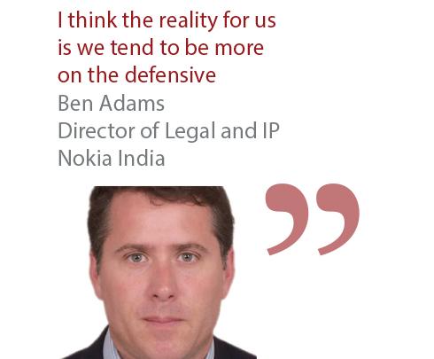 Ben Adams Director of Legal and IP Nokia India