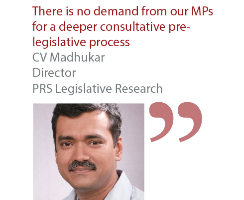 CV Madhukar Director PRS Legislative Research