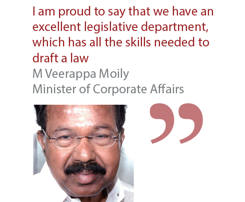 M Veerappa Moily Minister of Corporate Affairs