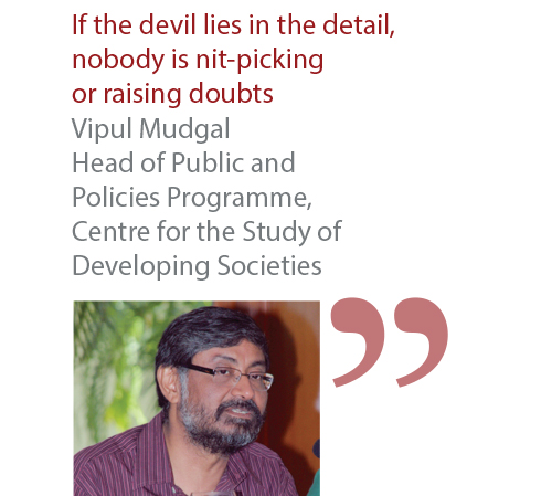 Vipul Mudgal Head of Public and Policies Programme, Centre for the Study of Developing Societies
