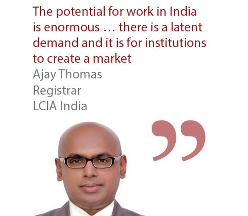 Ajay Thomas Registrar LCIA India