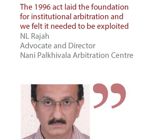NL Rajah Advocate and Director Nani Palkhivala Arbitration Centre