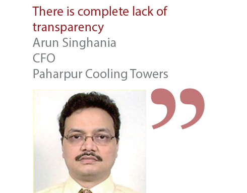 Arun Singhania CFO Paharpur Cooling Towers