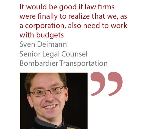 Sven Deimann Senior Legal Counsel Bombardier Transportation
