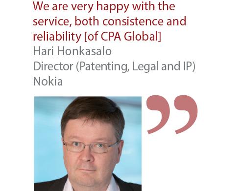 Hari Honkasalo Director (Patenting, Legal and IP) Nokia