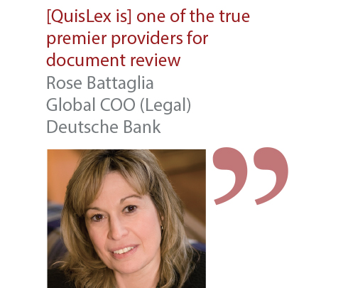 Rose Battaglia Global COO (Legal) Deutsche Bank