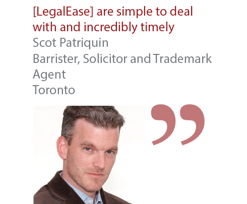 Scot Patriquin Barrister, Solicitor and Trademark Agent Toronto