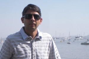 Setting sail: Akil Hirani breezes through Mumbai's harbour.