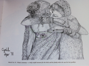 Hiddent talents: Cyril Shroff has developed a skill for charcoal sketching.