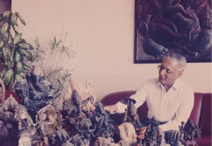 Undying passion: ML Bhakta with his collection of Ganeshas.