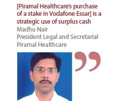 Madhu Nair President Legal and Secretarial Piramal Healthcare