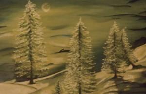 Creative pursuits: One of Sunita Sreedharan's oil paintings.
