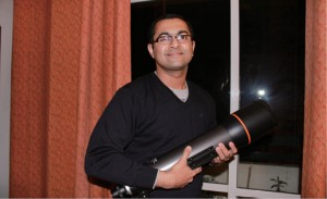 An eye on the sky: Vishnumohan Rethinam is a passionate astronomer and a regular lecturer at the Nehru Planetarium.