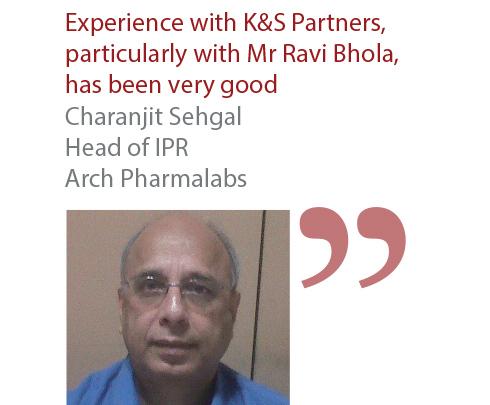 Charanjit Sehgal Head of IPR Arch Pharmalabs