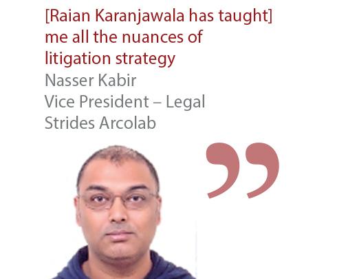 Nasser Kabir Vice President - Legal Strides Arcolab