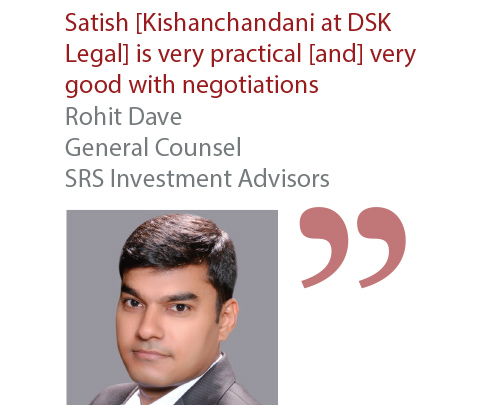 Rohit Dave General Counsel SRS Investment Advisors