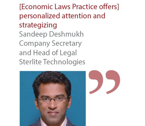 Sandeep Deshmukh Company Secretary and Head of Legal Sterlite Technologies