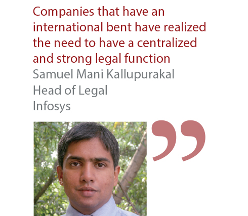 Samuel Mani Kallupurakal Head of Legal Infosys