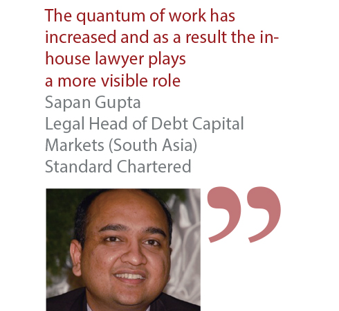 Sapan Gupta Legal Head of Debt Capital Markets (South Asia) Standard Chartered
