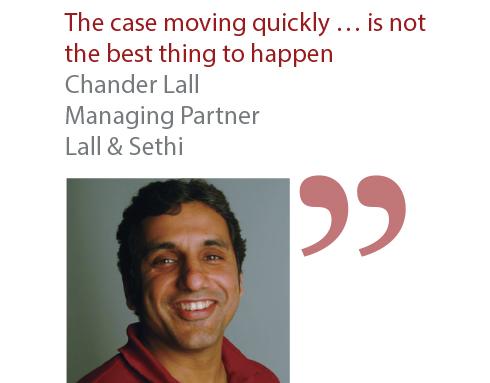 Chander Lall Managing Partner Lall & Sethi