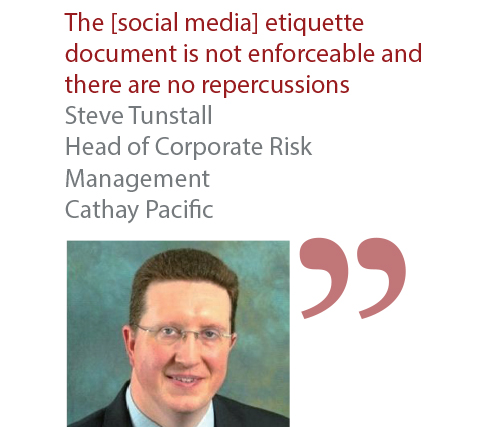 Steve Tunstall Head of Corporate Risk Management Cathay Pacific
