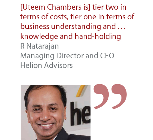 R Natarajan Managing Director and CFO Helion Advisors