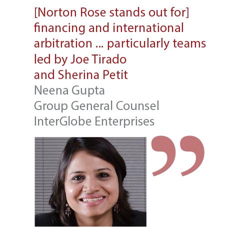 Neena Gupta Group General Counsel InterGlobe Enterprises