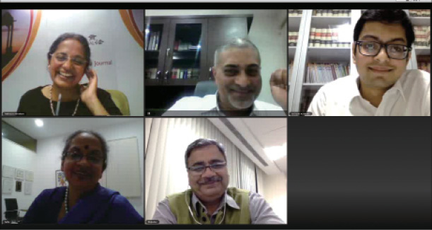 Live action: The panellists debate strategies for speeding up dispute resolution. Top row: India Business Law Journal's Rebecca Abraham, PM Devaiah, Anirudh Krishnan. Bottom row: Laila Ollapally, Rajinder Sharma.
