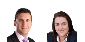 Tony Mancini and Sinéad Leddy at KPMG's Guernsey office